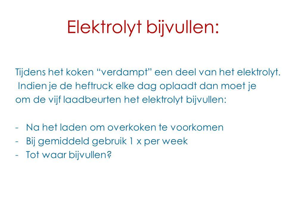 Elektrolyt bijvullen: