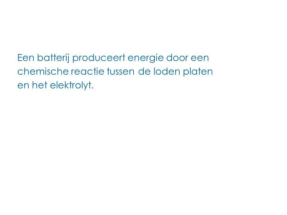 Een batterij produceert energie door een