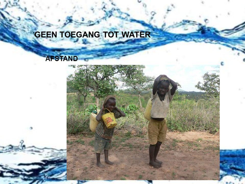 GEEN TOEGANG TOT WATER AFSTAND
