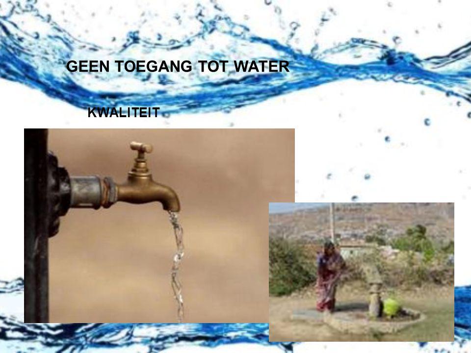 GEEN TOEGANG TOT WATER KWALITEIT