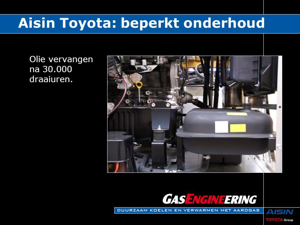 Aisin Toyota: beperkt onderhoud