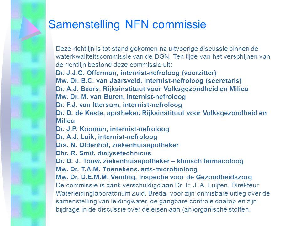 Samenstelling NFN commissie
