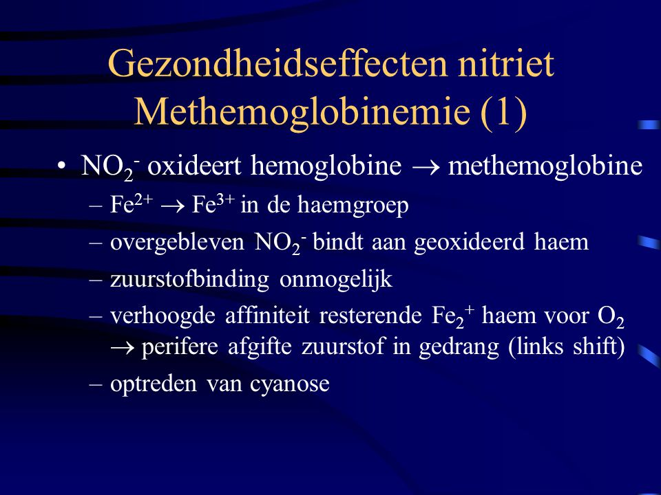 Gezondheidseffecten nitriet Methemoglobinemie (1)