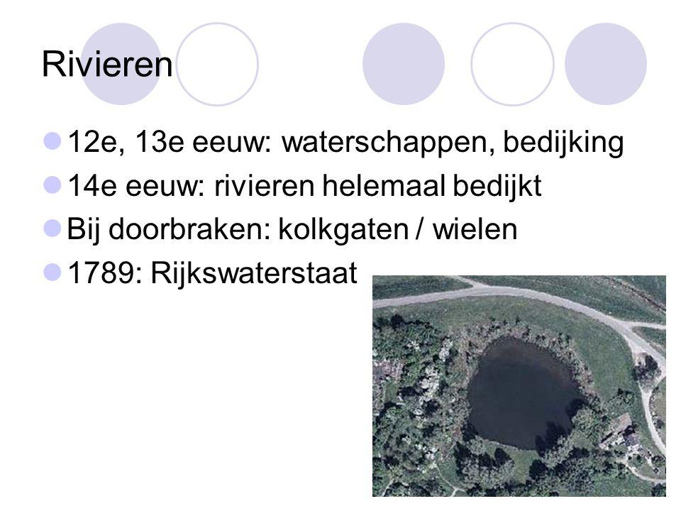 Rivieren 12e, 13e eeuw: waterschappen, bedijking