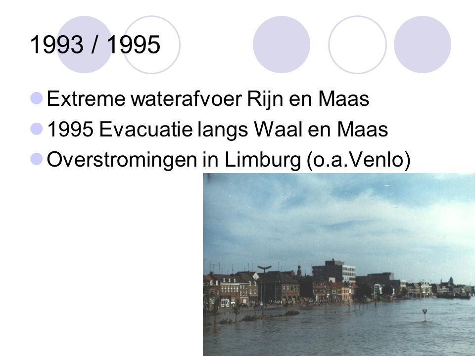 1993 / 1995 Extreme waterafvoer Rijn en Maas