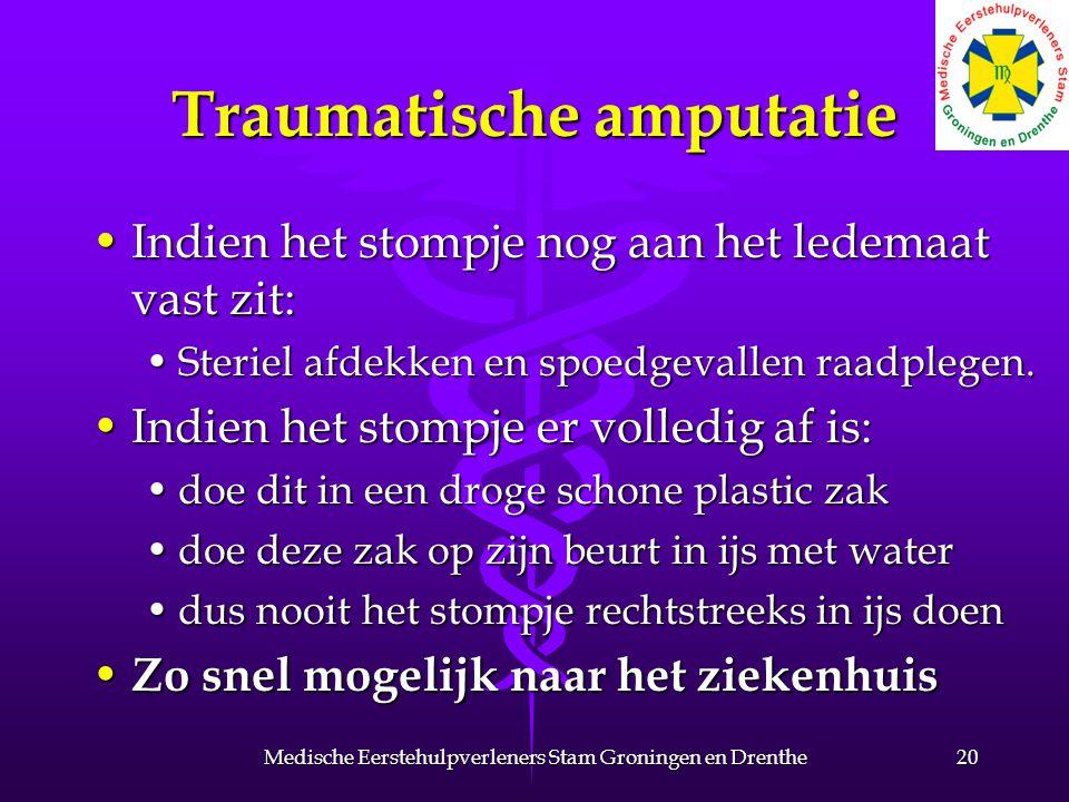 Traumatische amputatie