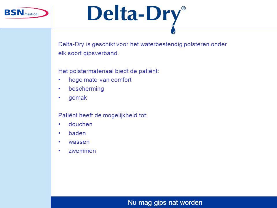 Delta-Dry is geschikt voor het waterbestendig polsteren onder