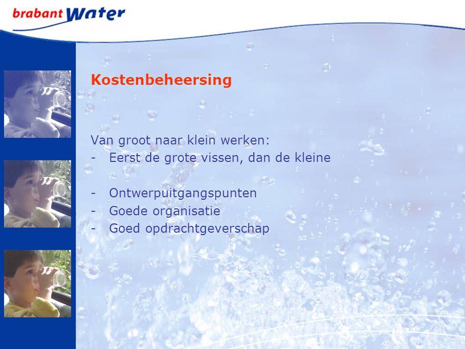 Kostenbeheersing Van groot naar klein werken: