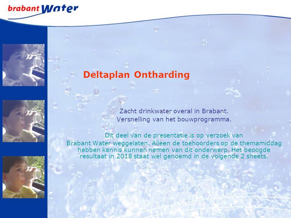 Deltaplan Ontharding Zacht drinkwater overal in Brabant.