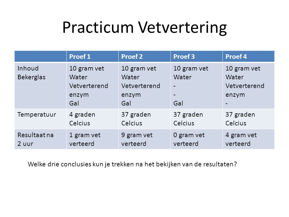 Practicum Vetvertering