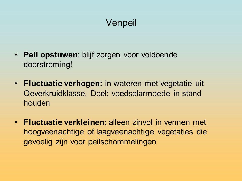 Venpeil Peil opstuwen: blijf zorgen voor voldoende doorstroming!