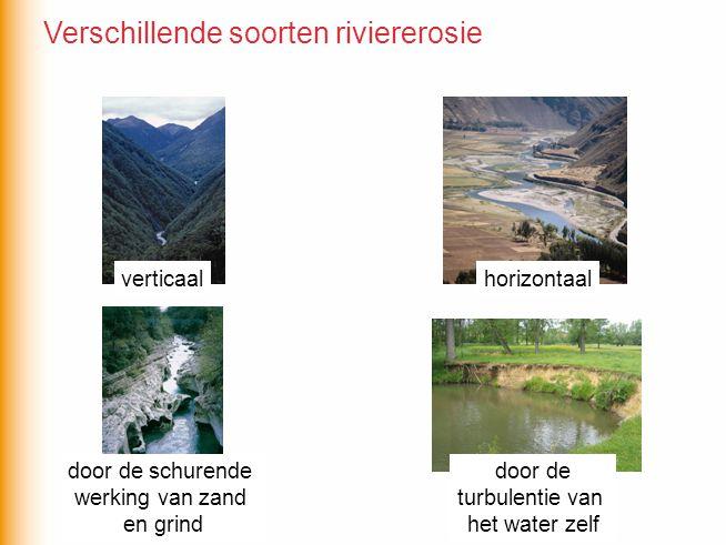 Verschillende soorten riviererosie