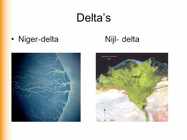 Delta's Niger-delta Nijl- delta