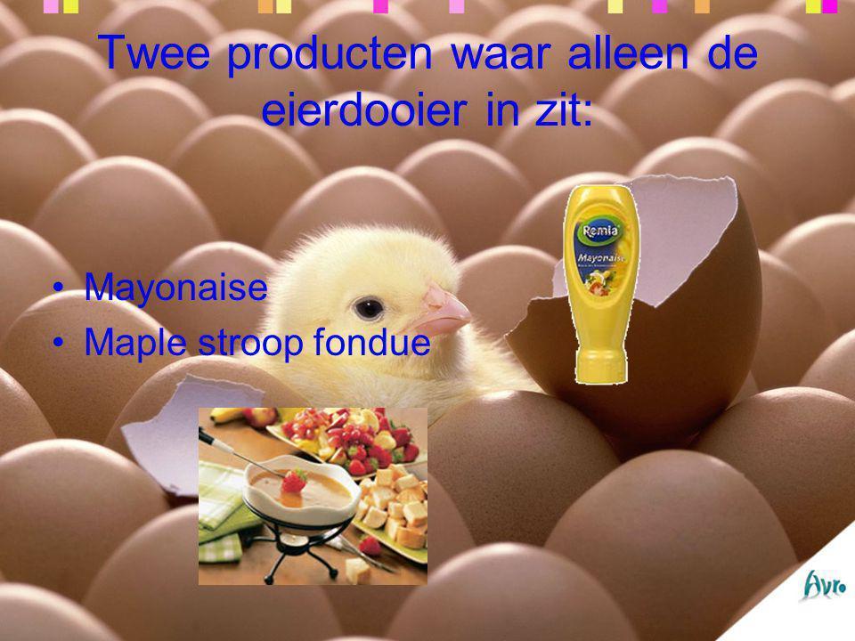 Twee producten waar alleen de eierdooier in zit:
