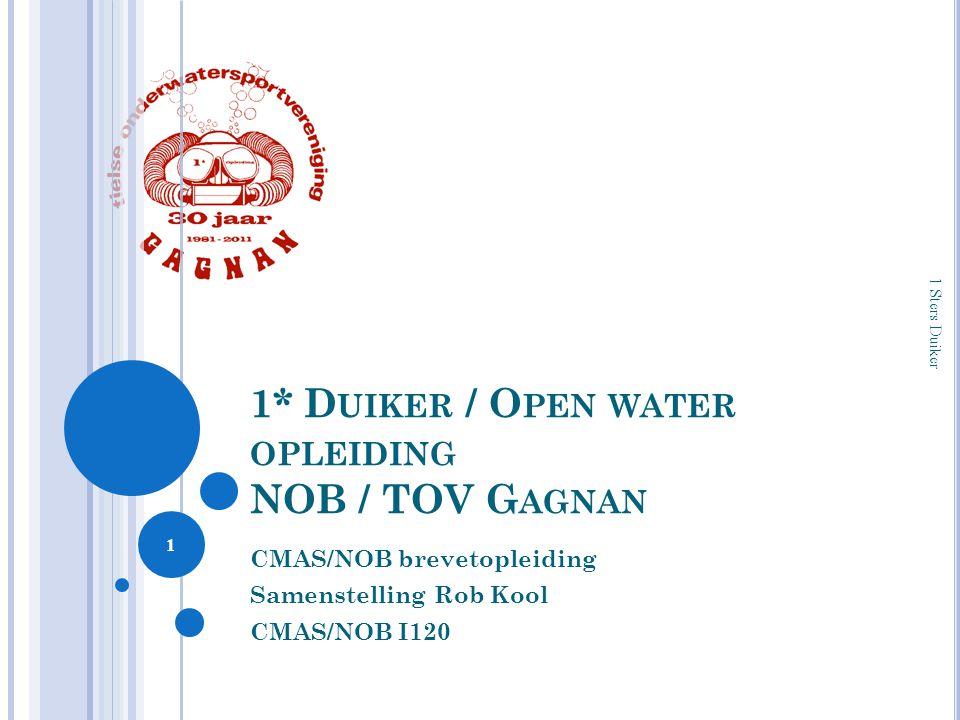1* Duiker / Open water opleiding NOB / TOV Gagnan