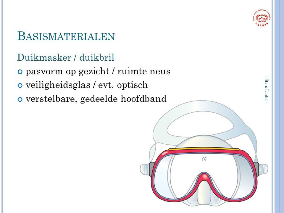 Basismaterialen Duikmasker / duikbril pasvorm op gezicht / ruimte neus