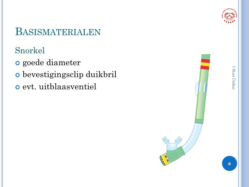 Basismaterialen Snorkel goede diameter bevestigingsclip duikbril