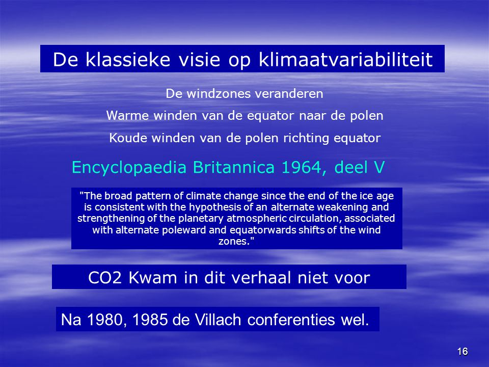 De klassieke visie op klimaatvariabiliteit