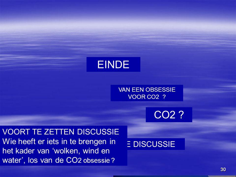 VAN EEN OBSESSIE VOOR CO2
