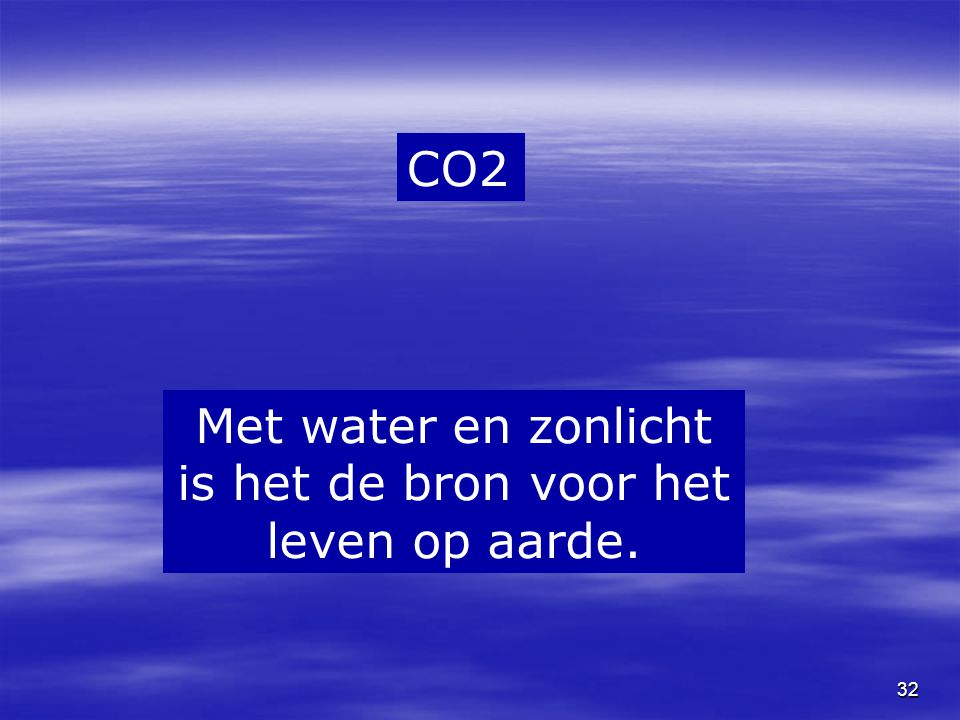 Met water en zonlicht is het de bron voor het leven op aarde.