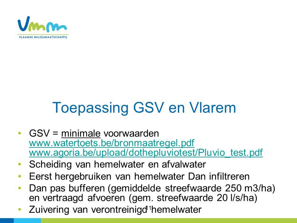 Toepassing GSV en Vlarem
