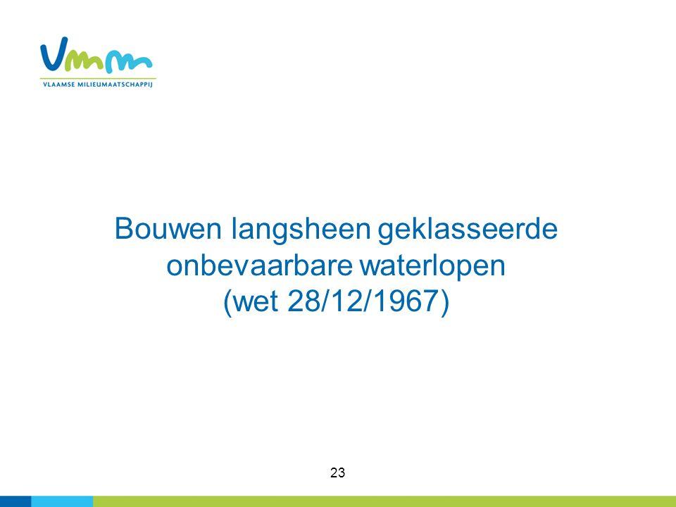 Bouwen langsheen geklasseerde onbevaarbare waterlopen (wet 28/12/1967)