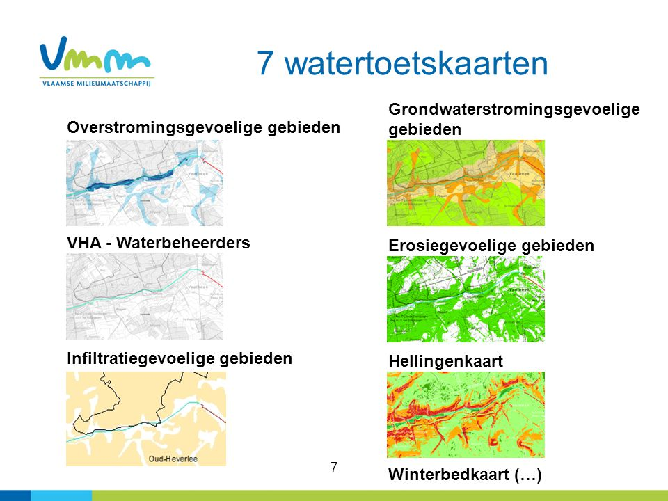 7 watertoetskaarten Grondwaterstromingsgevoelige gebieden