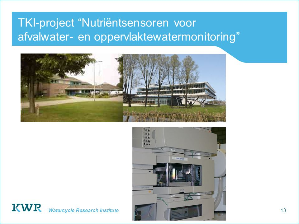 TKI-project Nutriëntsensoren voor afvalwater- en oppervlaktewatermonitoring