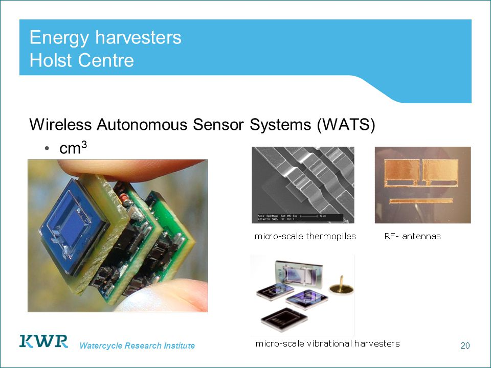 Energy harvesters Holst Centre
