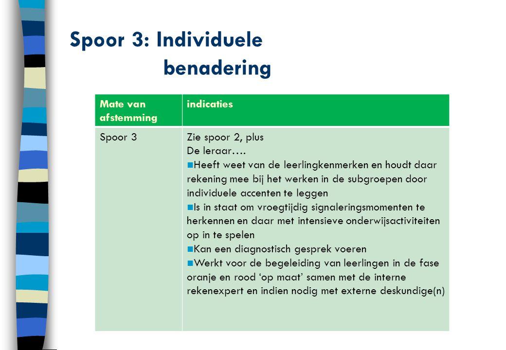 Spoor 3: Individuele benadering