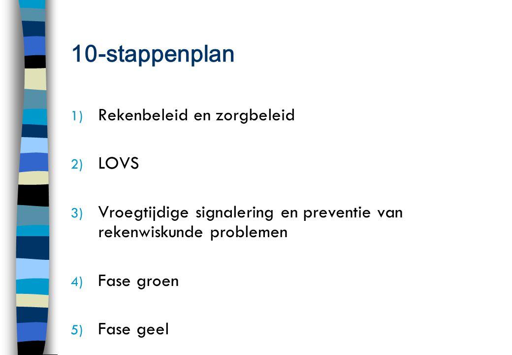10-stappenplan Rekenbeleid en zorgbeleid LOVS