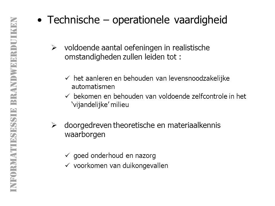 Technische – operationele vaardigheid