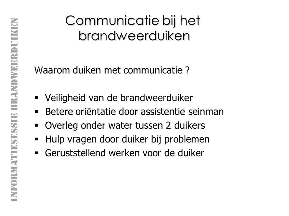 Communicatie bij het brandweerduiken