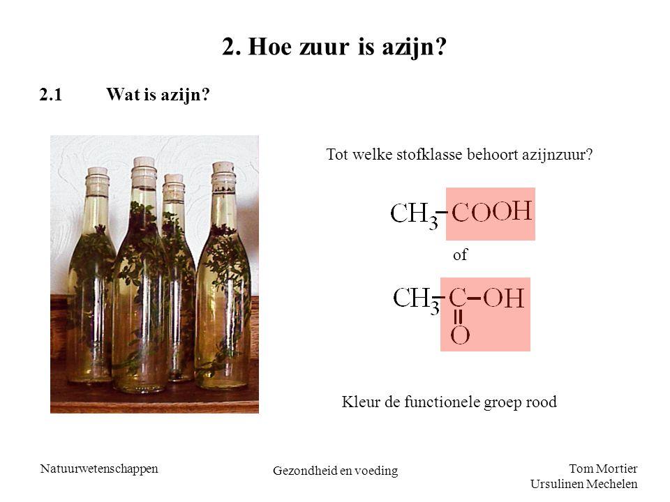 2. Hoe zuur is azijn 2.1 Wat is azijn