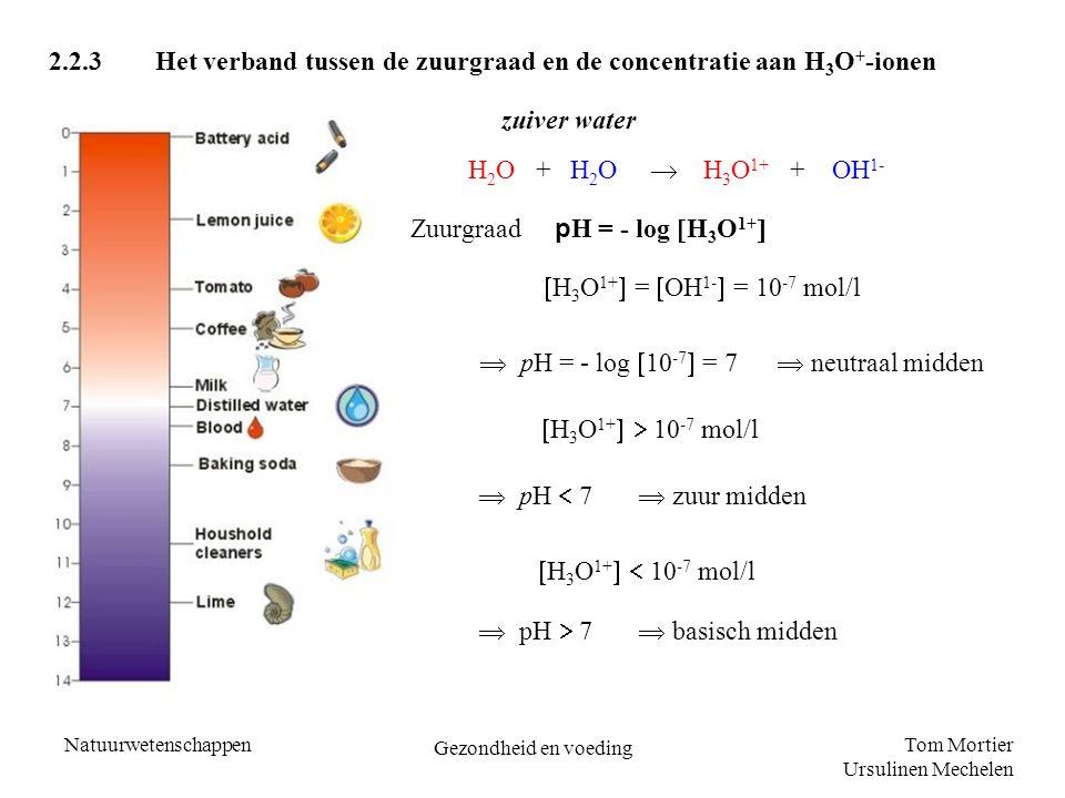  pH = - log 10-7 = 7  neutraal midden
