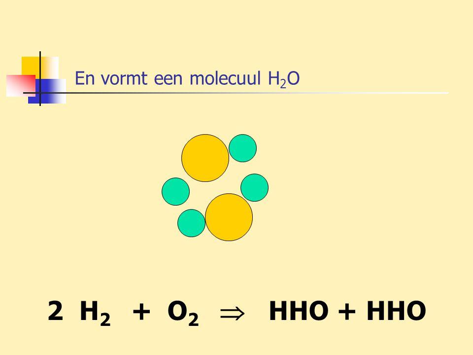 En vormt een molecuul H2O