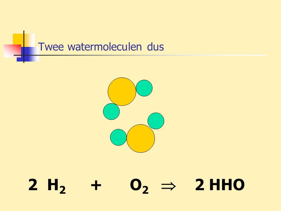 Twee watermoleculen dus
