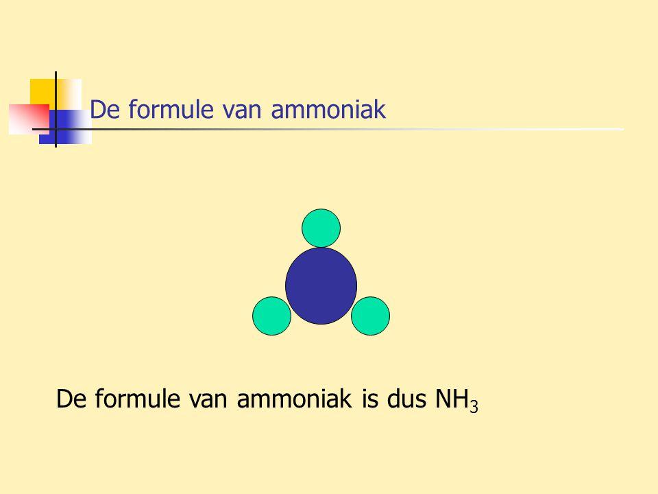 De formule van ammoniak