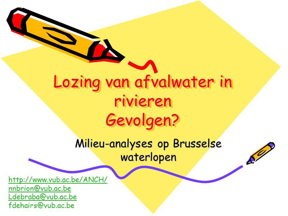 Lozing van afvalwater in rivieren Gevolgen