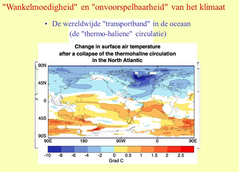Wankelmoedigheid en onvoorspelbaarheid van het klimaat