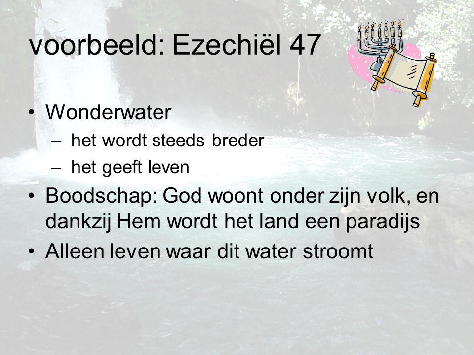 voorbeeld: Ezechiël 47 Wonderwater
