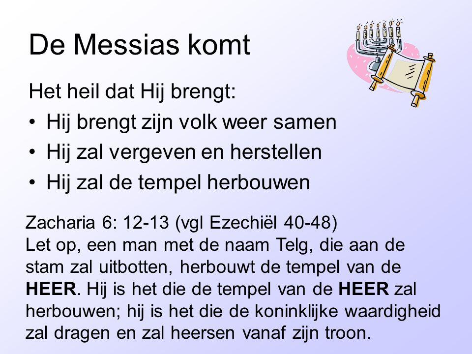 De Messias komt Het heil dat Hij brengt: