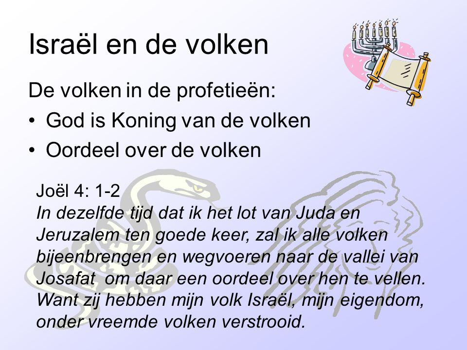 Israël en de volken De volken in de profetieën: