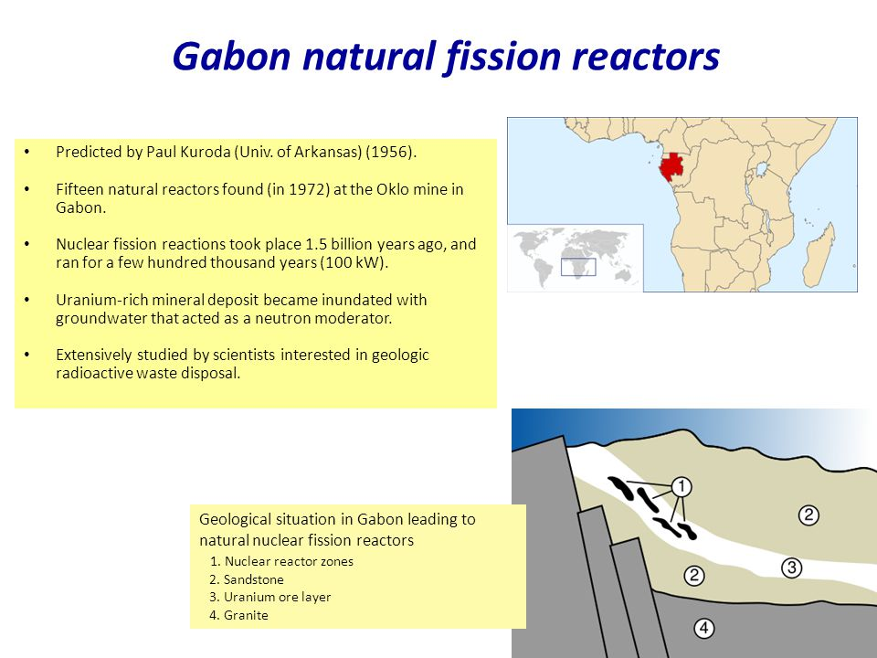 Gabon natural fission reactors