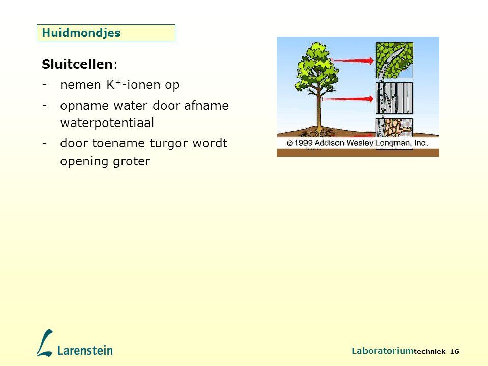 opname water door afname waterpotentiaal