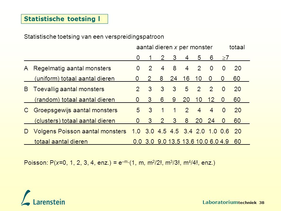 Statistische toetsing l