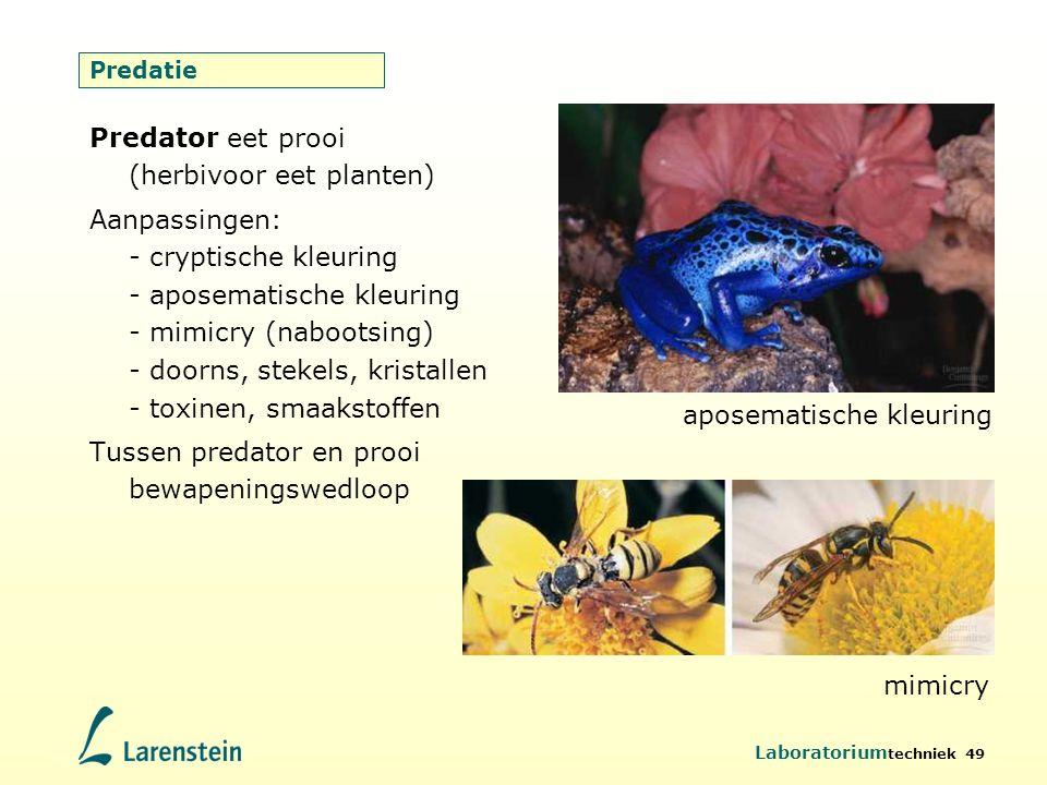 Predator eet prooi (herbivoor eet planten)