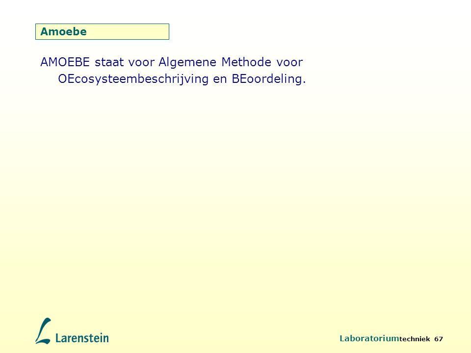 Amoebe AMOEBE staat voor Algemene Methode voor OEcosysteembeschrijving en BEoordeling.