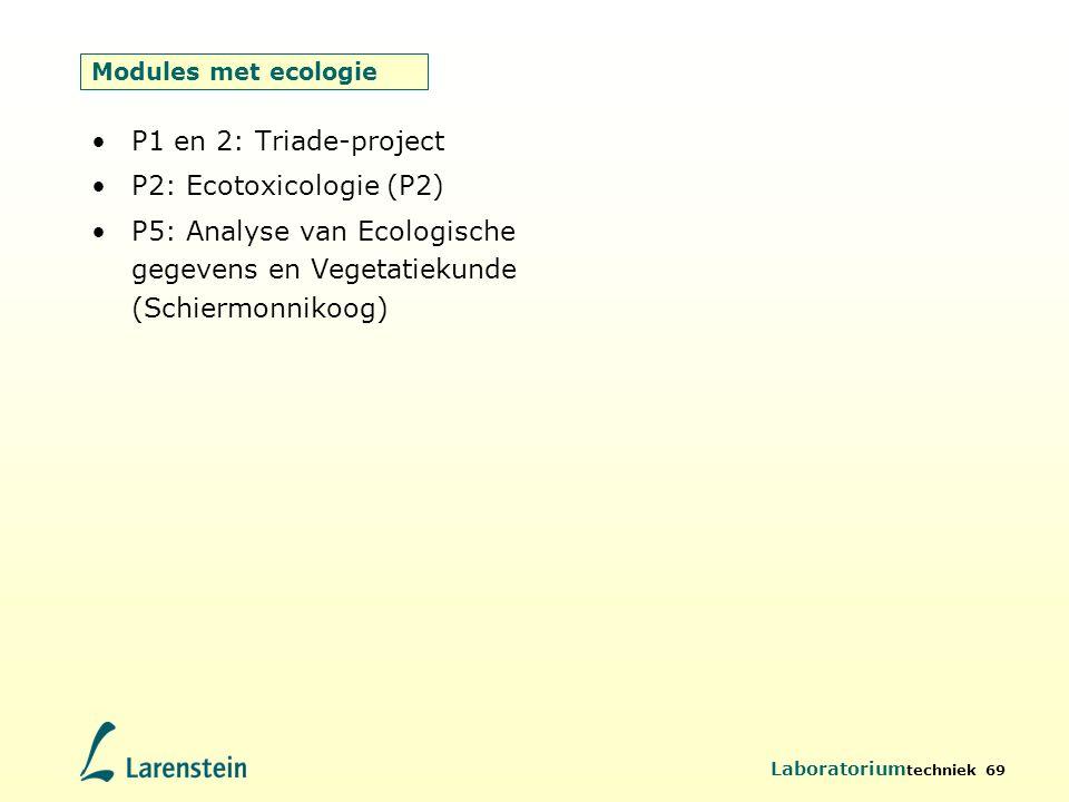 P1 en 2: Triade-project P2: Ecotoxicologie (P2)