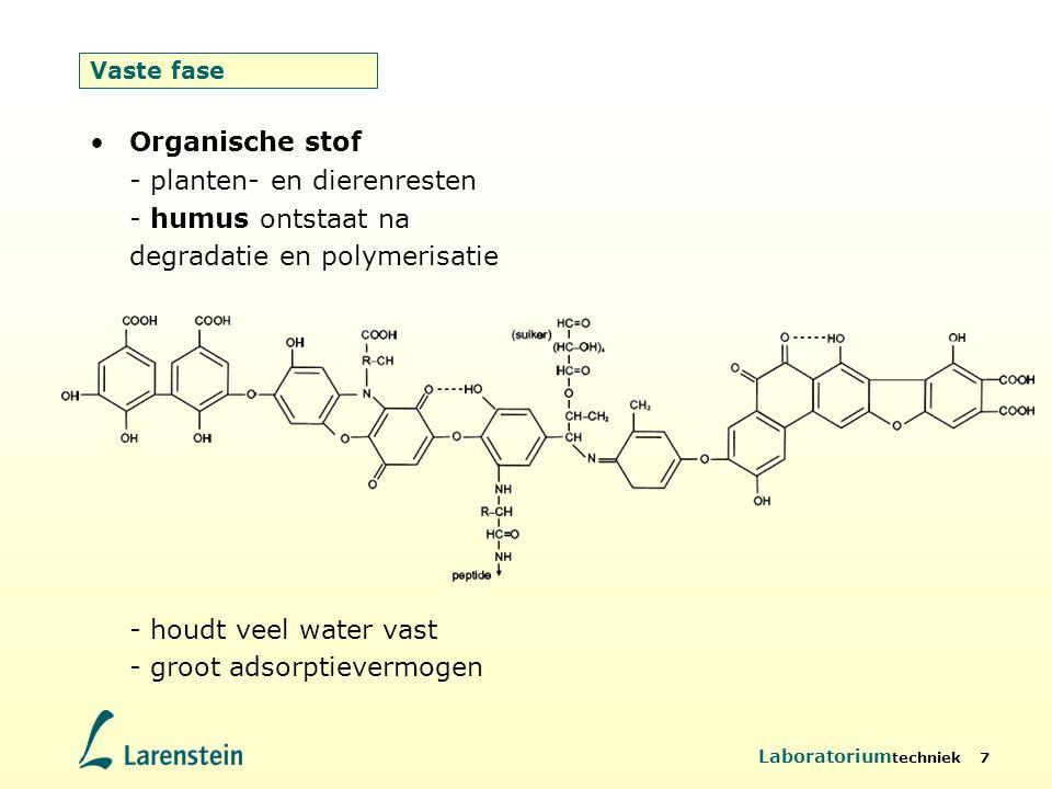 - houdt veel water vast - groot adsorptievermogen